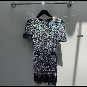 French connection glitter sequin New Years dress 4